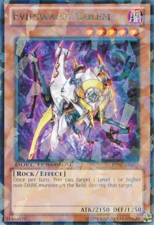 Evilswarm Golem - (Duel Terminal Rare Parallel Rare) (DT07) available at 401 Games Canada