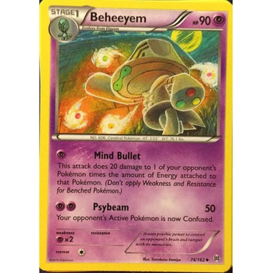 Buy Beheeyem - 74/162 - Reverse Foil and more Great Pokemon Products at 401 Games