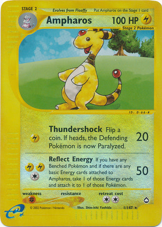 Buy Ampharos - 1/147 - Reverse Foil and more Great Pokemon Products at 401 Games