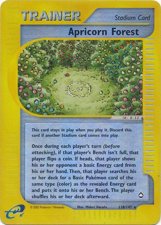 Buy Apricorn Forest - 118/147 - Reverse Foil and more Great Pokemon Products at 401 Games
