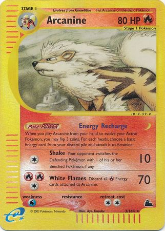 Arcanine - 3/144 - Reverse Foil (SKY) available at 401 Games Canada