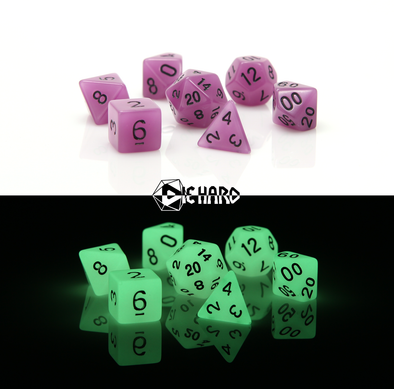 Die Hard - 7 Piece - Glow-In-the-Dark Purple