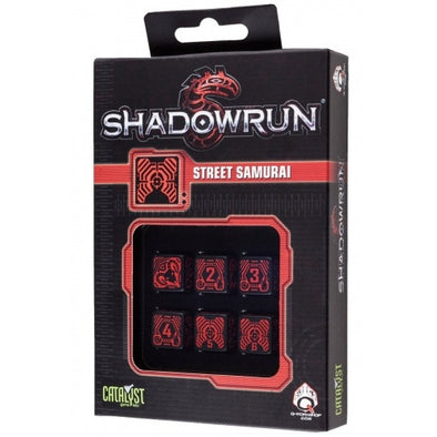 Buy Dice Set - Q-Workshop - 6D6 - Shadowrun - Street Samurai and more Great Dice Products at 401 Games