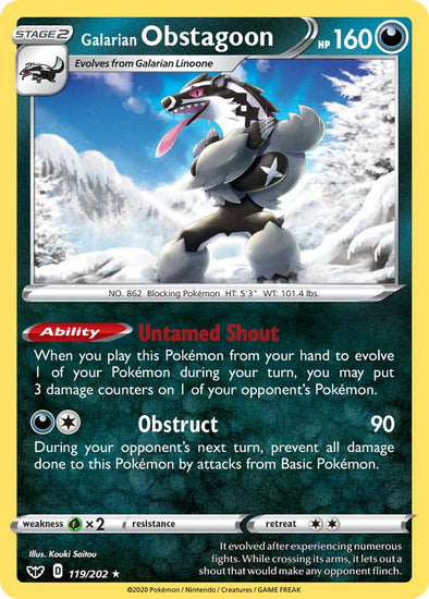 Galarian Obstagoon - 119/202 - 401 Games