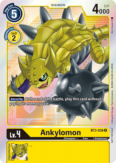 Ankylomon - Alternative Art (BT3-036) available at 401 Games Canada