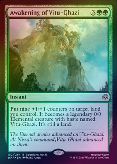 Awakening of Vitu-Ghazi (Foil) (WAR)
