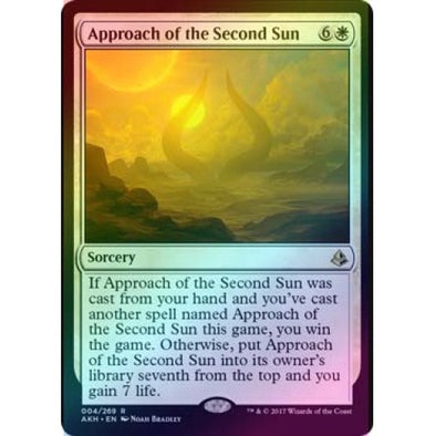 Approach of the Second Sun (Foil) (AKH) available at 401 Games Canada