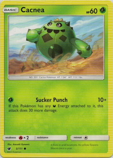 Buy Cacnea - 5/111 and more Great Pokemon Products at 401 Games