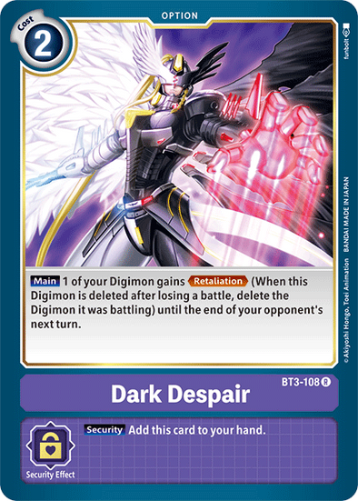 Dark Despair (BT3-108) available at 401 Games Canada