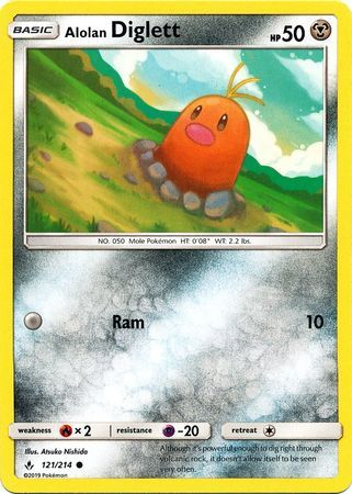 Buy Alolan Diglett - 121/214 - and more Great Pokemon Products at 401 Games