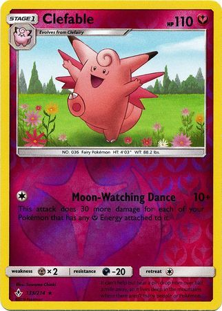 Buy Clefable - 133/214 - Reverse Foil - and more Great Pokemon Products at 401 Games