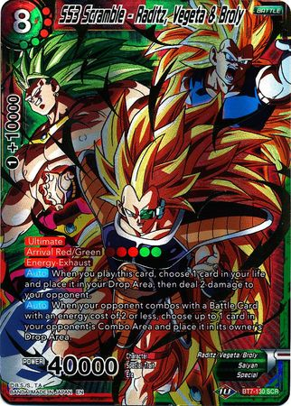 SS3 Scramble - Raditz, Vegeta & Broly available at 401 Games Canada