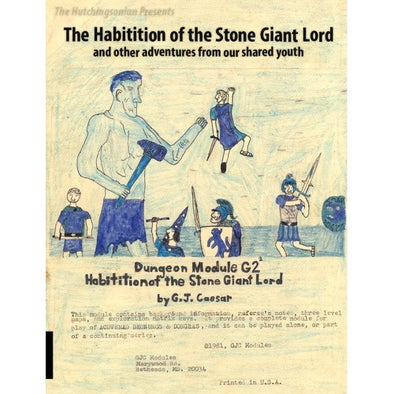 The Habitation of the Stone Giant Lord and Other Adventures From our Shared Youth - Core Rulebook available at 401 Games Canada
