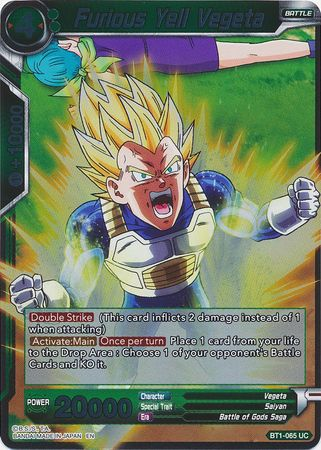 Furious Yell Vegeta (Foil) available at 401 Games Canada