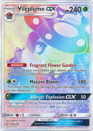 Vileplume GX 250/236 - Secret Rare available at 401 Games Canada
