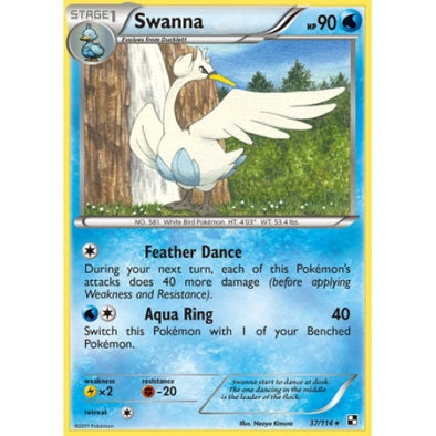 Buy Swanna - 37/114 and more Great Pokemon Products at 401 Games