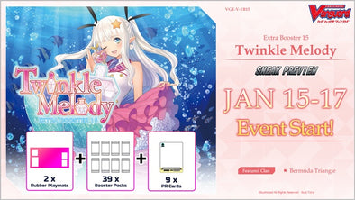 Cardfight!! Vanguard - V Extra Booster 15: Twinkle Melody Sneak Preview Kit available at 401 Games Canada
