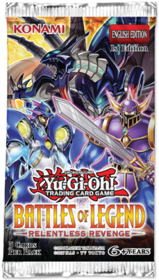 Yugioh - Battles of Legend - Relentless Revenge Booster Pack available at 401 Games Canada