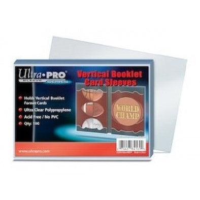 Ultra Pro - Vertical Booklet Card Sleeves 100ct 3x5 (96.8mm x 140.1mm) - 401 Games