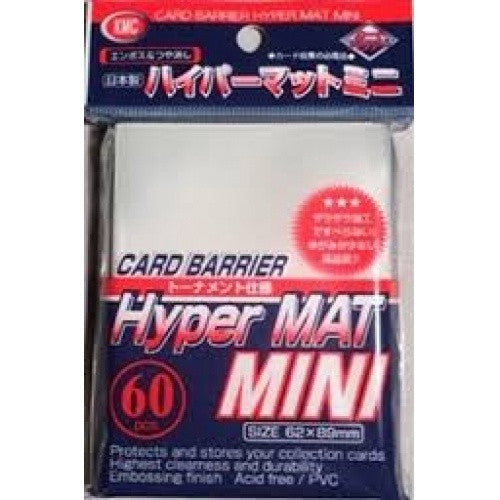 KMC Card Barrier - 60ct Small / Yu Gi Oh Hyper Mat Sleeves - White - 401 Games