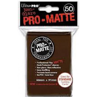 Buy Ultra Pro - Standard Card Sleeves 50ct - Pro-Matte - Brown and more Great Sleeves & Supplies Products at 401 Games