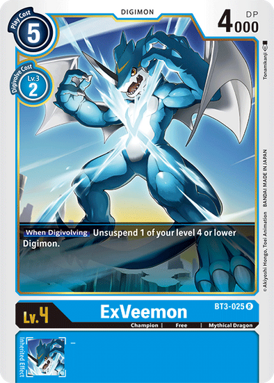 ExVeemon (BT3-025) available at 401 Games Canada