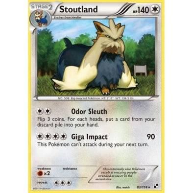 Buy Stoutland - 83/114 and more Great Pokemon Products at 401 Games