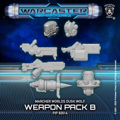 Warcaster - Neo-Mechanika - Marcher Worlds - Dusk Wolf Weapon Pack (Variant B) - 401 Games
