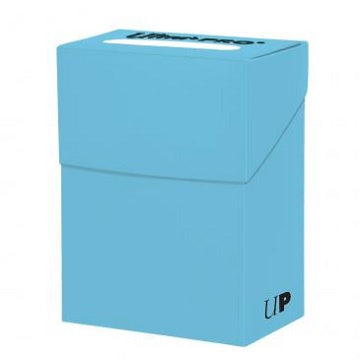 Ultra Pro - Deck Box Solid 80ct - Light Blue available at 401 Games Canada