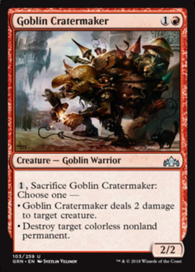 Goblin Cratermaker (GRN) available at 401 Games Canada