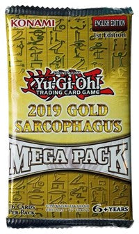 Yugioh - 2019 Gold Sarcophagus Tin Mega Pack available at 401 Games Canada