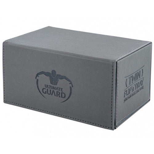 Buy Ultimate Guard - Twin Flip n' Tray Xenoskin 160 - Grey and more Great Sleeves & Supplies Products at 401 Games
