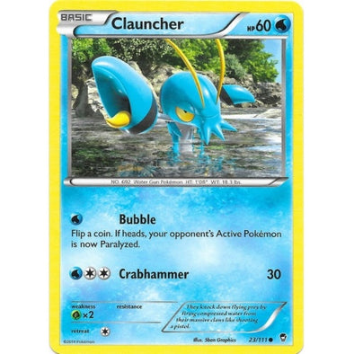 Buy Clauncher - 23/111 - Reverse Foil and more Great Pokemon Products at 401 Games