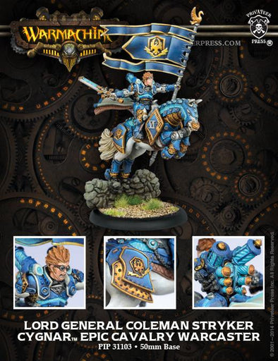 Buy Warmachine - Cygnar - Lord General Coleman Stryker and more Great Tabletop Wargames Products at 401 Games