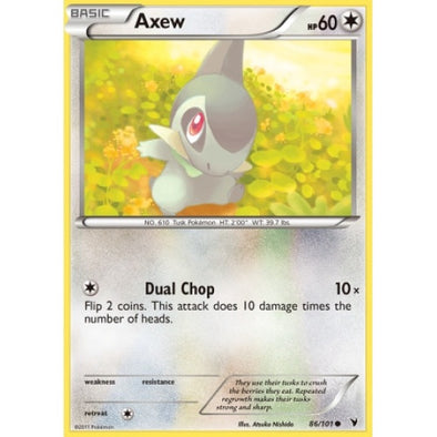 Buy Axew - 86/101 - Reverse Foil and more Great Pokemon Products at 401 Games