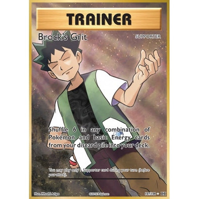 Buy Brock's Grit - 107/108 - Full Art and more Great Pokemon Products at 401 Games