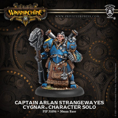 Buy Warmachine - Cygnar - Captain Arlen Strangewayes and more Great Tabletop Wargames Products at 401 Games