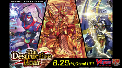 Buy Cardfight!! Vanguard - VGE-V-EB01 The Destructive Roar Extra Booster Box and more Great Cardfight!! Vanguard Products at 401 Games