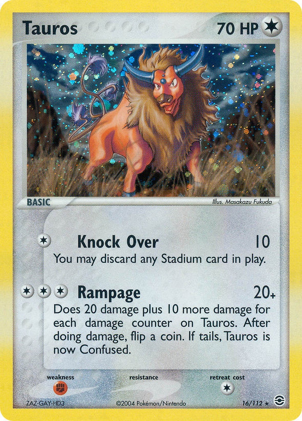 Tauros - 16/112 (FRLG016) available at 401 Games Canada