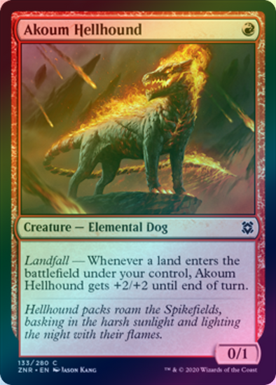 Akoum Hellhound (FOIL) (ZNR) available at 401 Games Canada