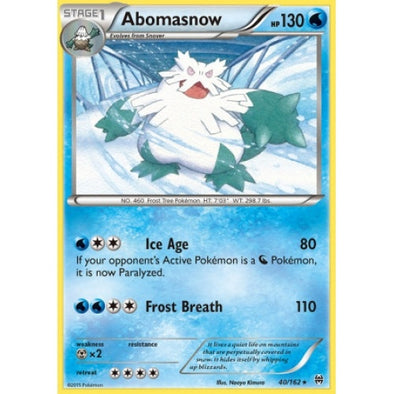 Buy Abomasnow - 40/162 - Reverse Foil and more Great Pokemon Products at 401 Games