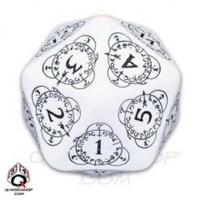 Dice Set - Q-Workshop - 30mm D20 Level Counter - White - 401 Games