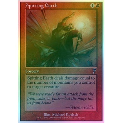Spitting Earth (Foil) available at 401 Games Canada