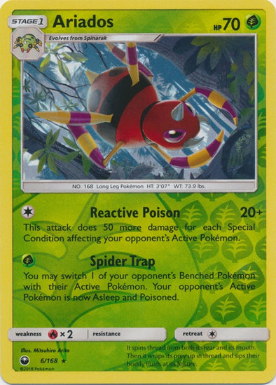 Buy Ariados - 6/168 - Reverse Foil and more Great Pokemon Products at 401 Games