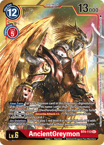 AncientGreymon - Alternative Art (BT4-113) (Pre-Order: 2021-05-28)