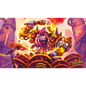 Buy Keyforge - Drummernaut Playmat and more Great Board Games Products at 401 Games