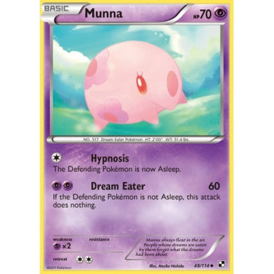 Buy Munna - 48/114 and more Great Pokemon Products at 401 Games