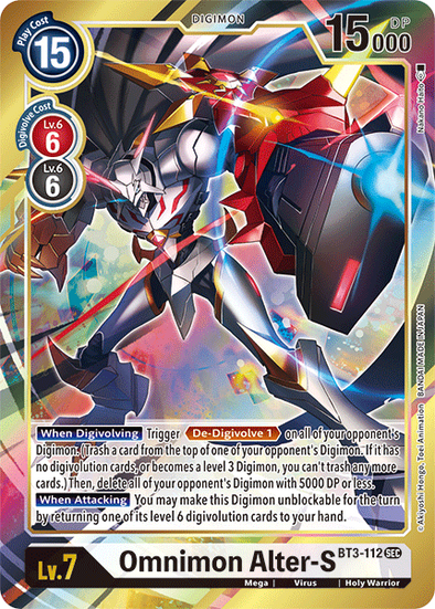 Omnimon Alter-S - Alternative Art (BT3-112) available at 401 Games Canada
