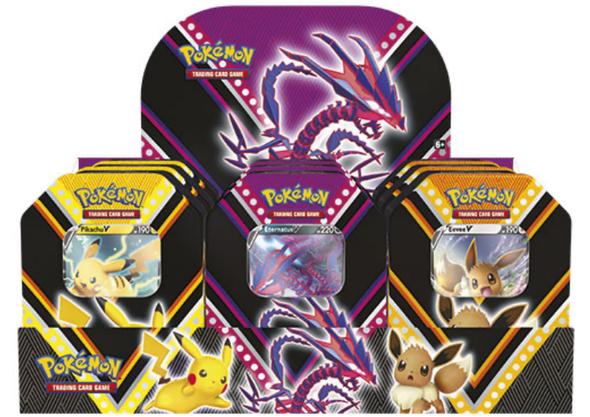 Pokemon V Powers Tin Bundle - Set of 3 (Pre-Order September 4th) - 401 Games