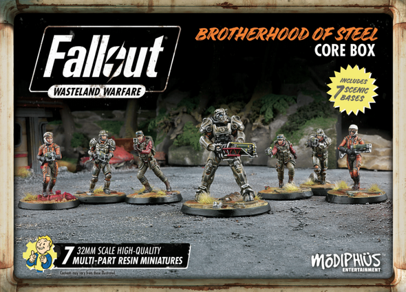 Buy Fallout - Wasteland Warfare - Brotherhood of Steel - Core Box and more Great Tabletop Wargames Products at 401 Games